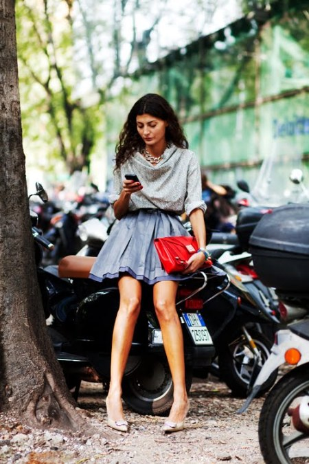 Giovanna- Pre-Armani Show-Milan Fashion Week- Courtesy of The Sartorialist