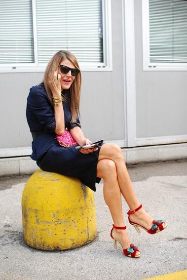 Anna Dello Russo- YSL Shoes