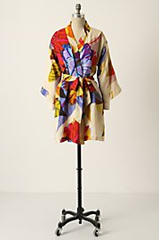 A Silk Robe from Anthropologie