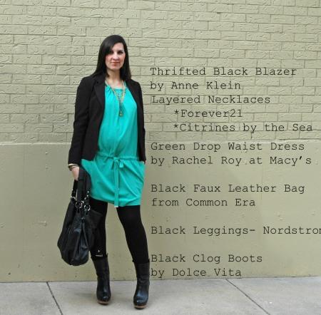 green dress stand edit